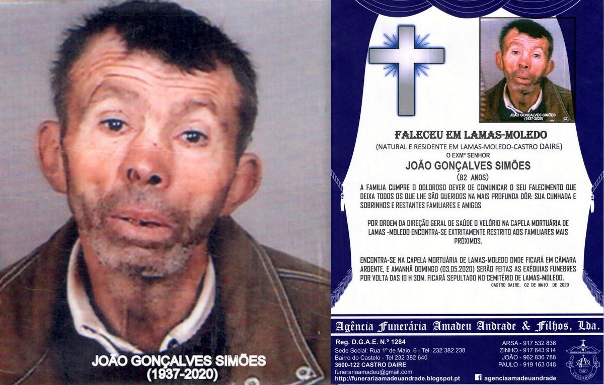 FOTO RIP DE JOÃO GONÇALVES SIMÕES-82 ANOS (LAMA