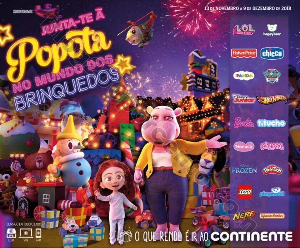 catálogo brinquedos continente 13 novembro a 9 de
