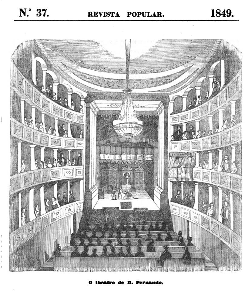 Ilustração do Teatro D. Fernando [Revista popula