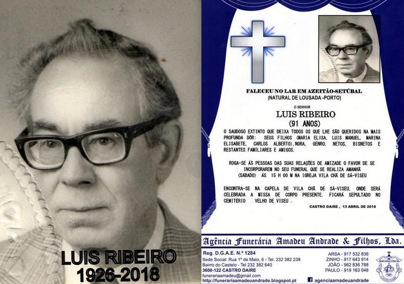 RIP-FOTO DE LUIS RIBEIRO-91 ANOS (VILA CHÃ DE SÁ
