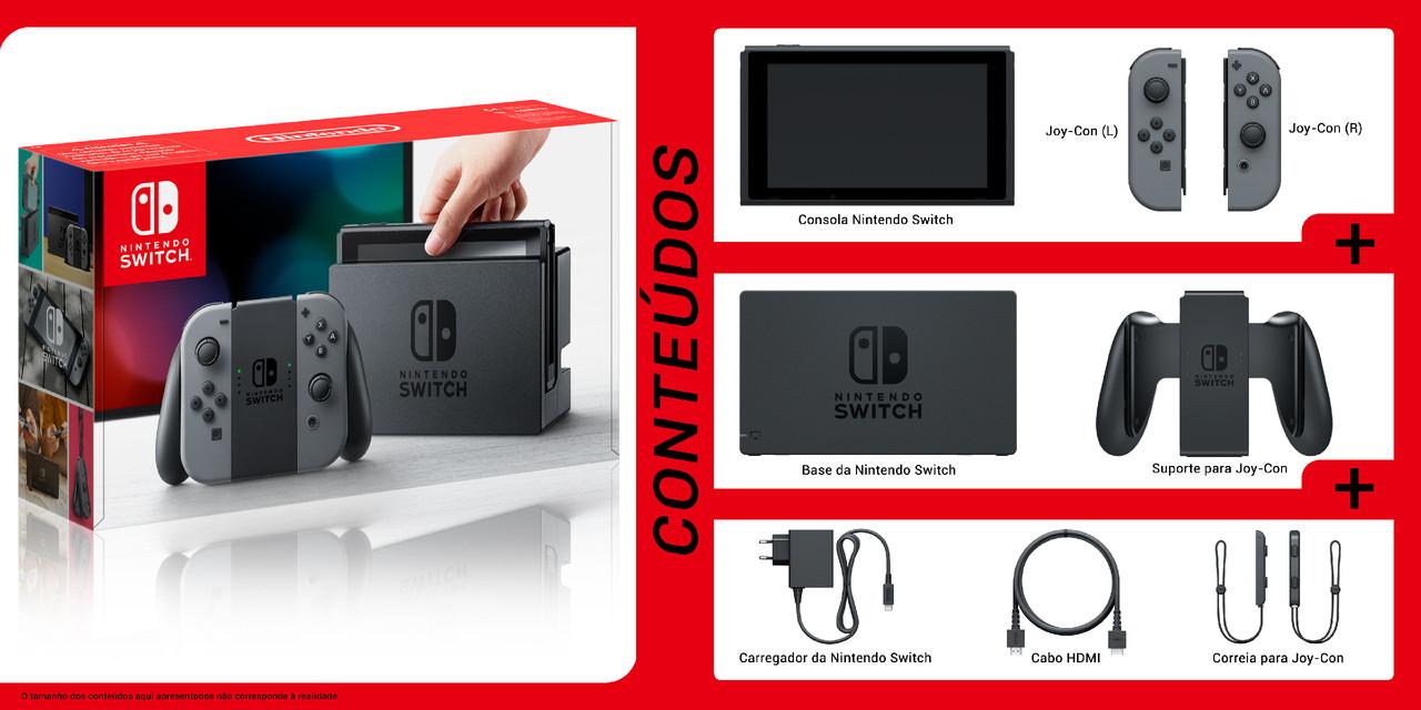 O que vem na caixa da Nintendo Switch?