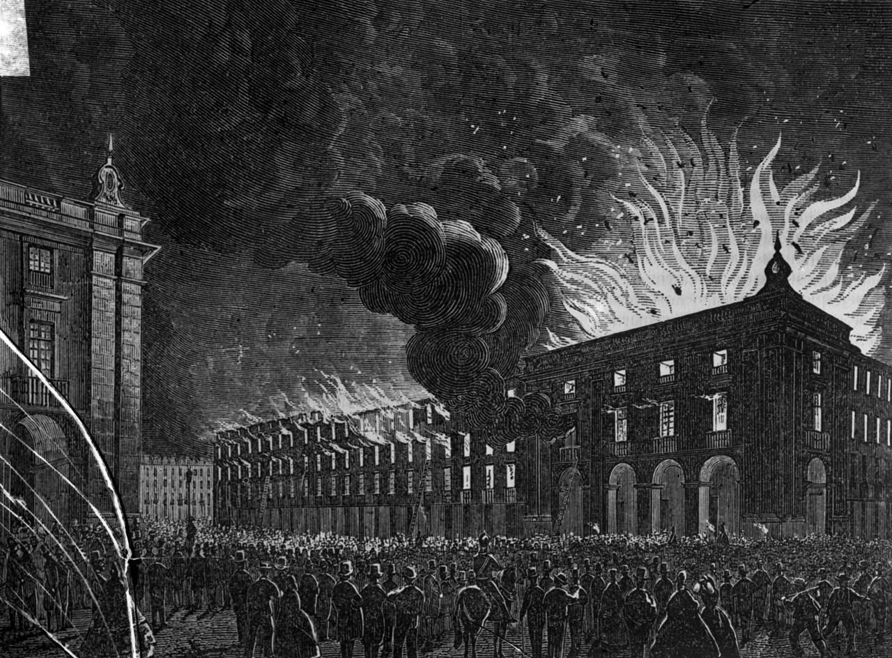 Incêndio no edifício da Câmara Municipal de Lis