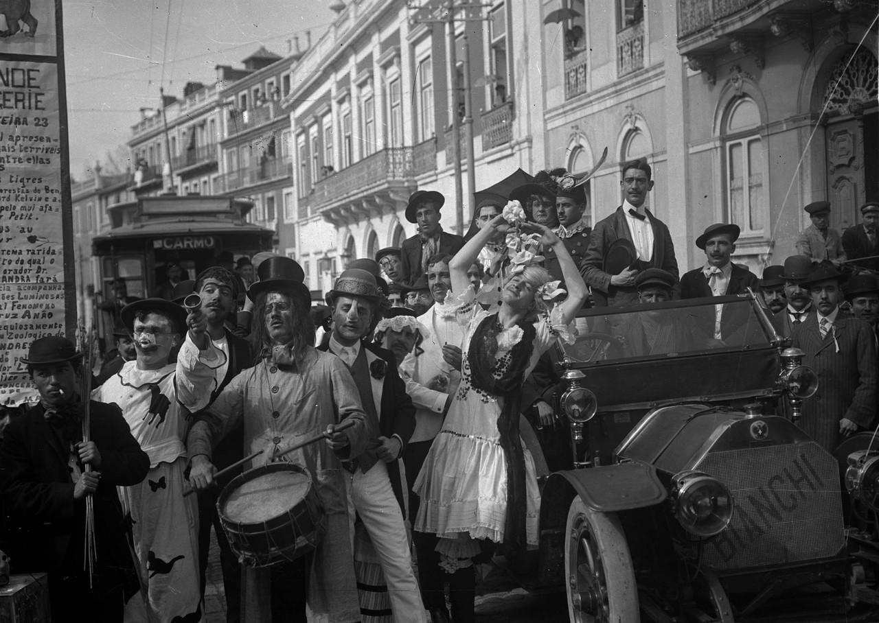 Carnaval da Escola Politécnica, 1911, foto de Jos