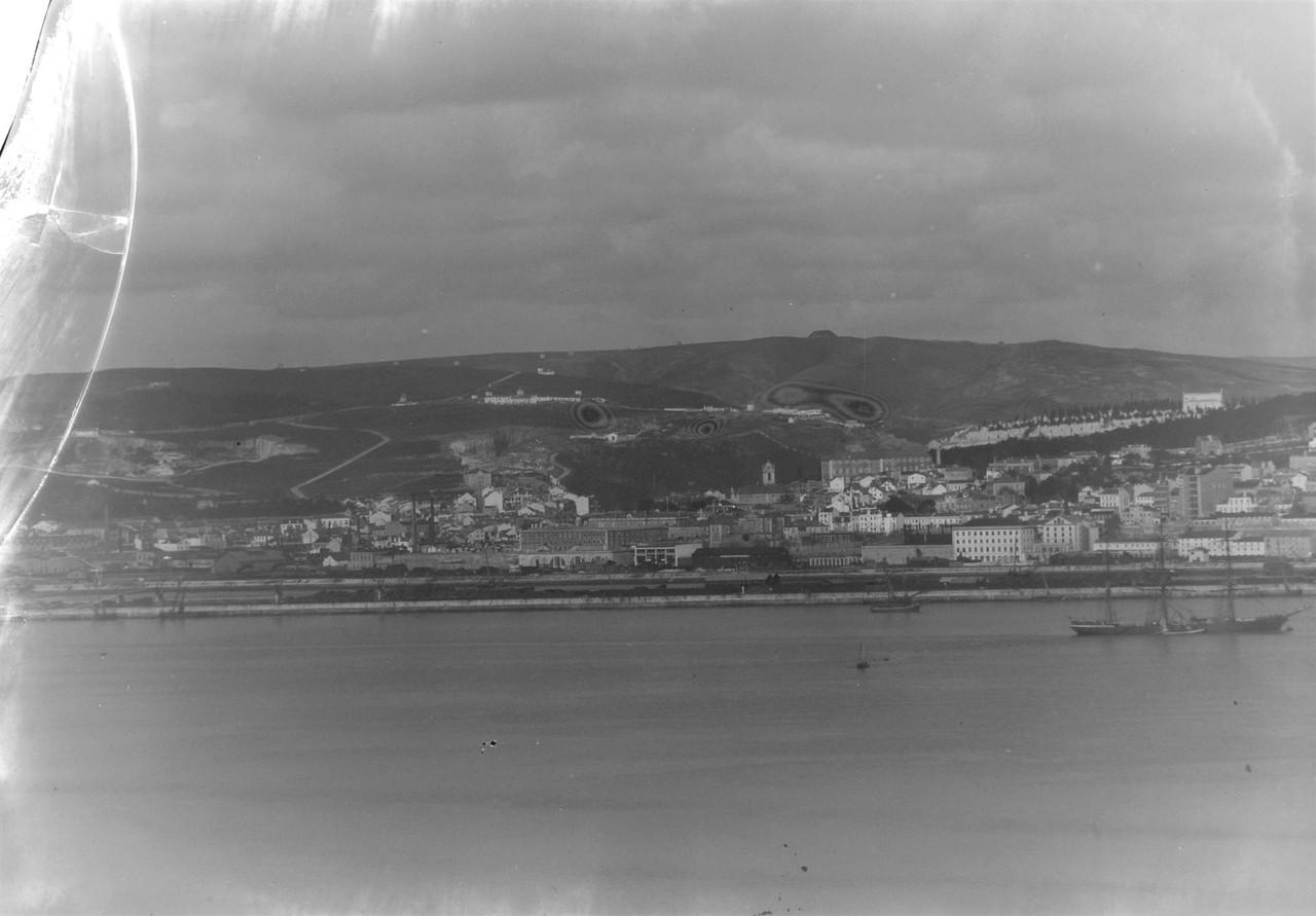 Panorâmica sobre a zona de Alcântara, 1906, foto