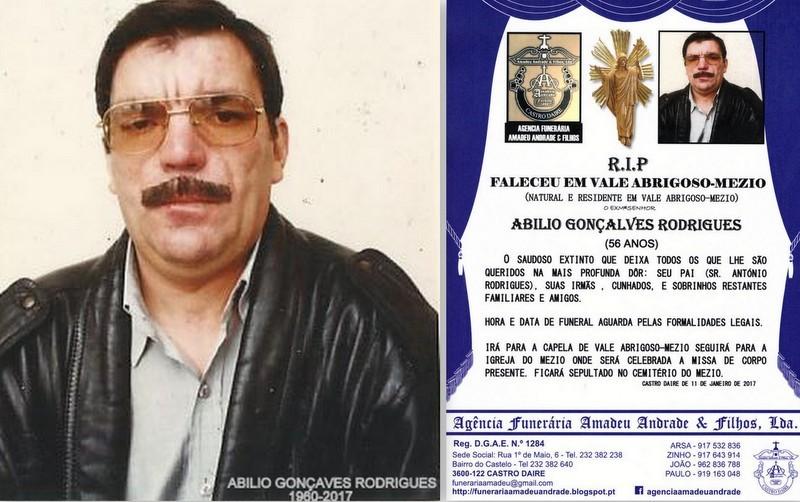RIP-FOTO-ABILIO GONÇALVES RODRIGUES-56 ANOS (VALE