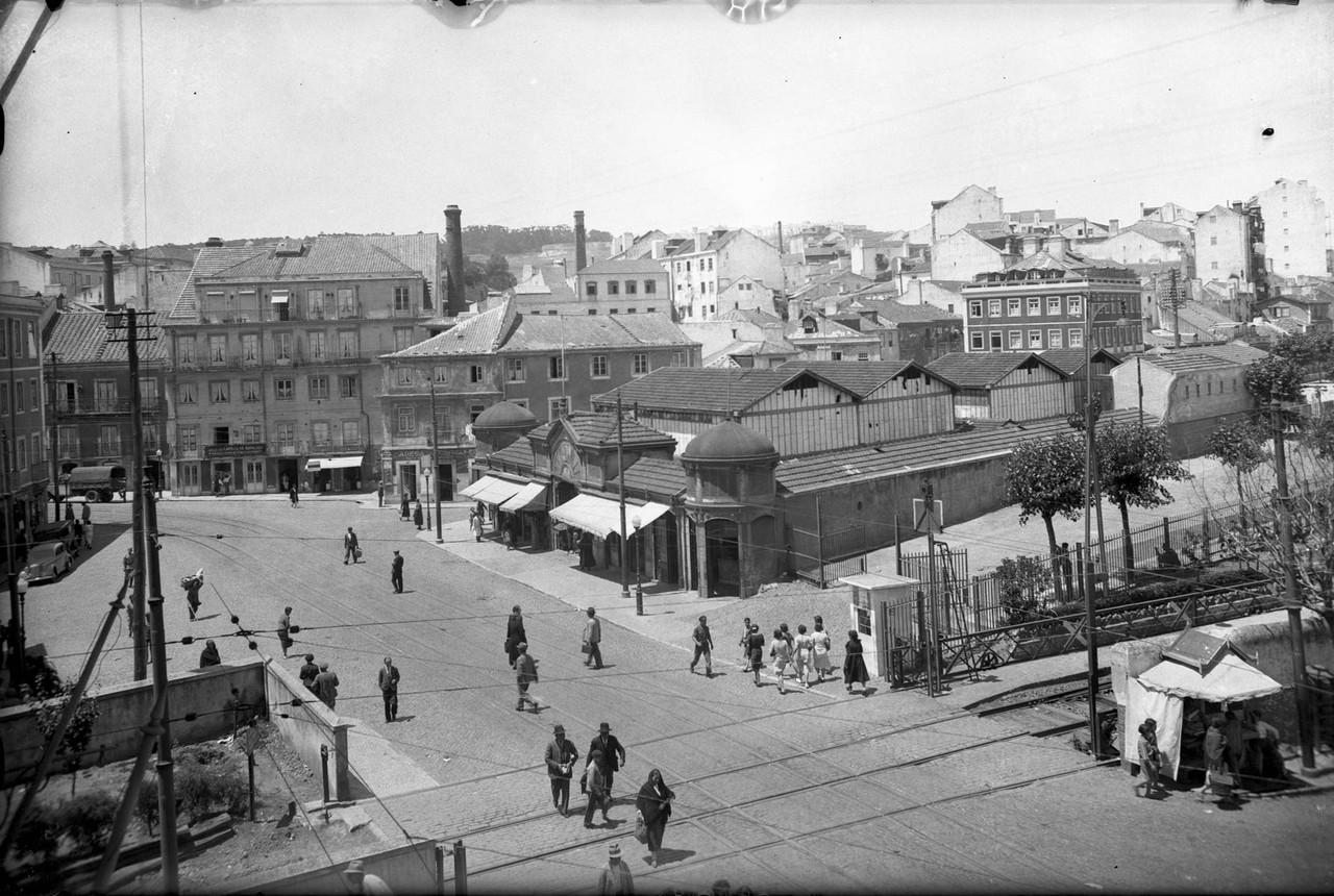 Mercado de Alcântara, Lisboa (E. Portugal, 1939)