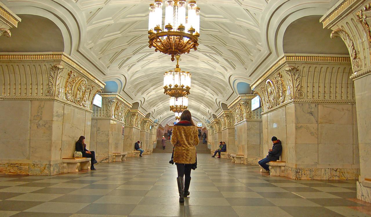 As estações de metro de Moscovo