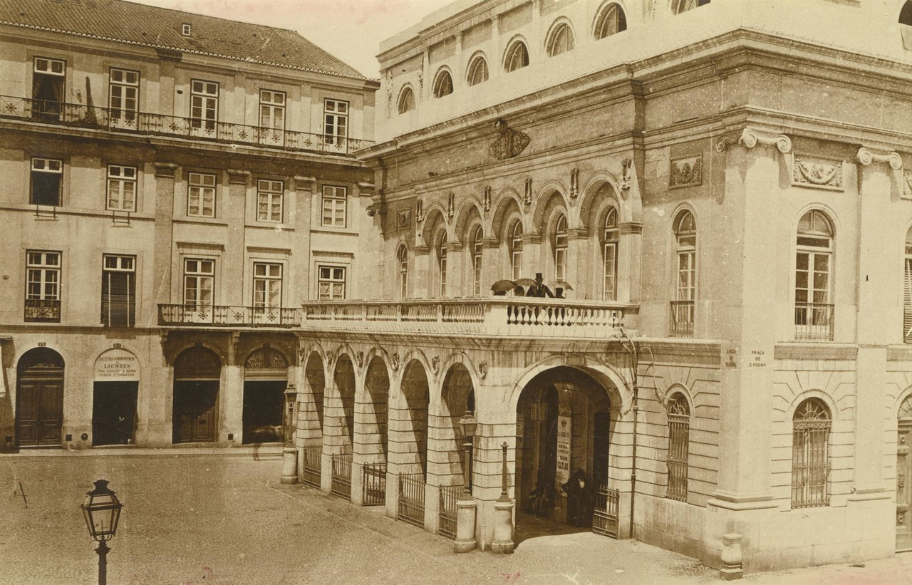 Teatro Nacional Dona Maria II, fachada lateral, sd