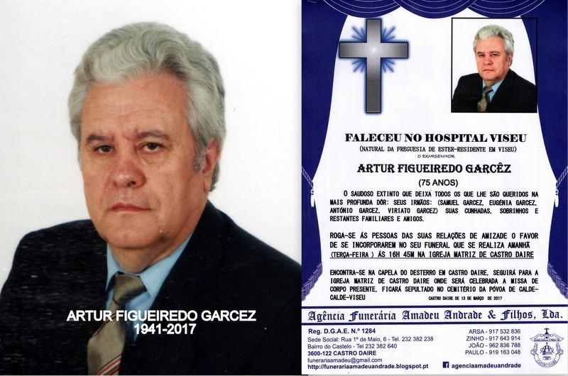 FOTO RIP- DE ARTUR FIGUEIREDO GARCÊS -75 ANOS (CA