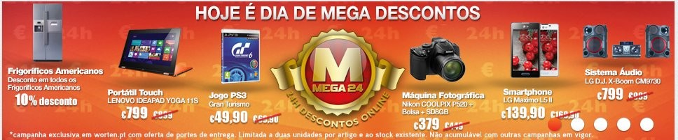 Mega24   WORTEN   os Preços de Hoje