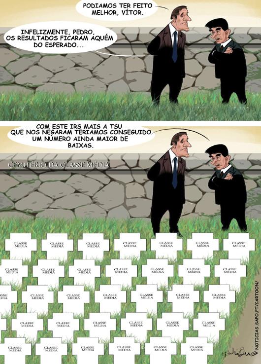 Cartoons - A morte da classe média