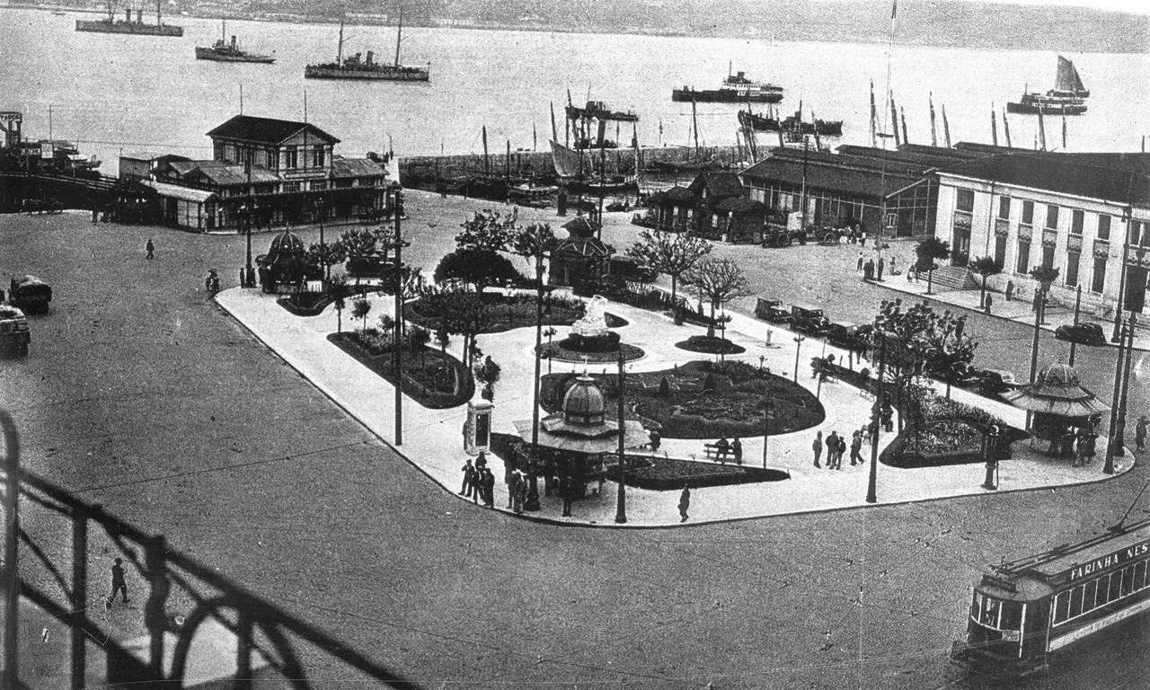 Jardim de Roque Gameiro, anos 50, foto de Eduardo