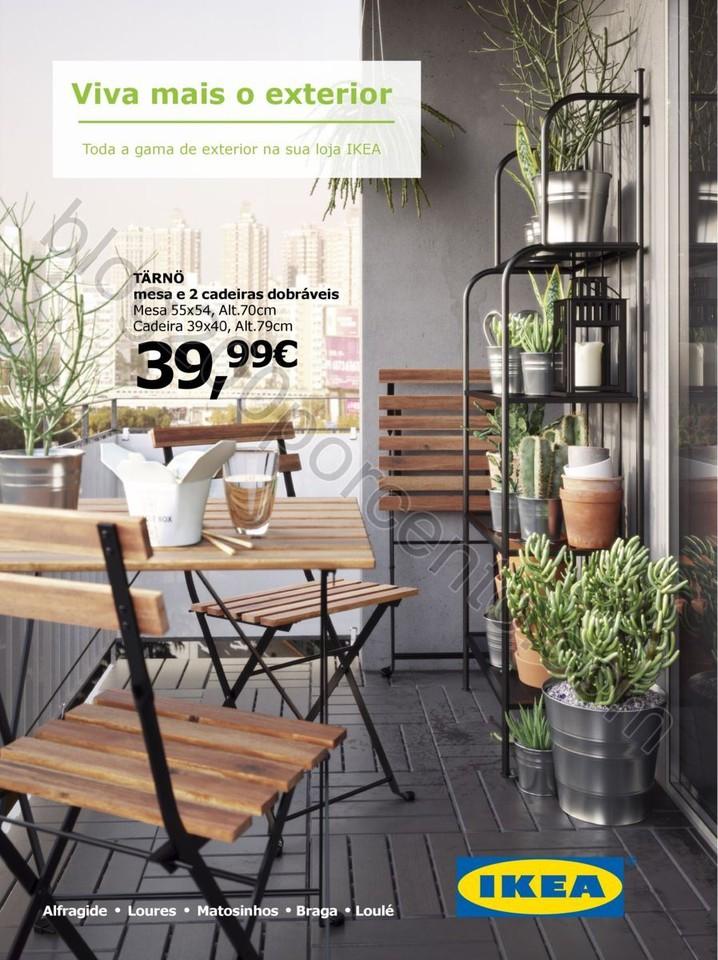 Antevisão Folheto IKEA Viva ao ar livre promoçõ