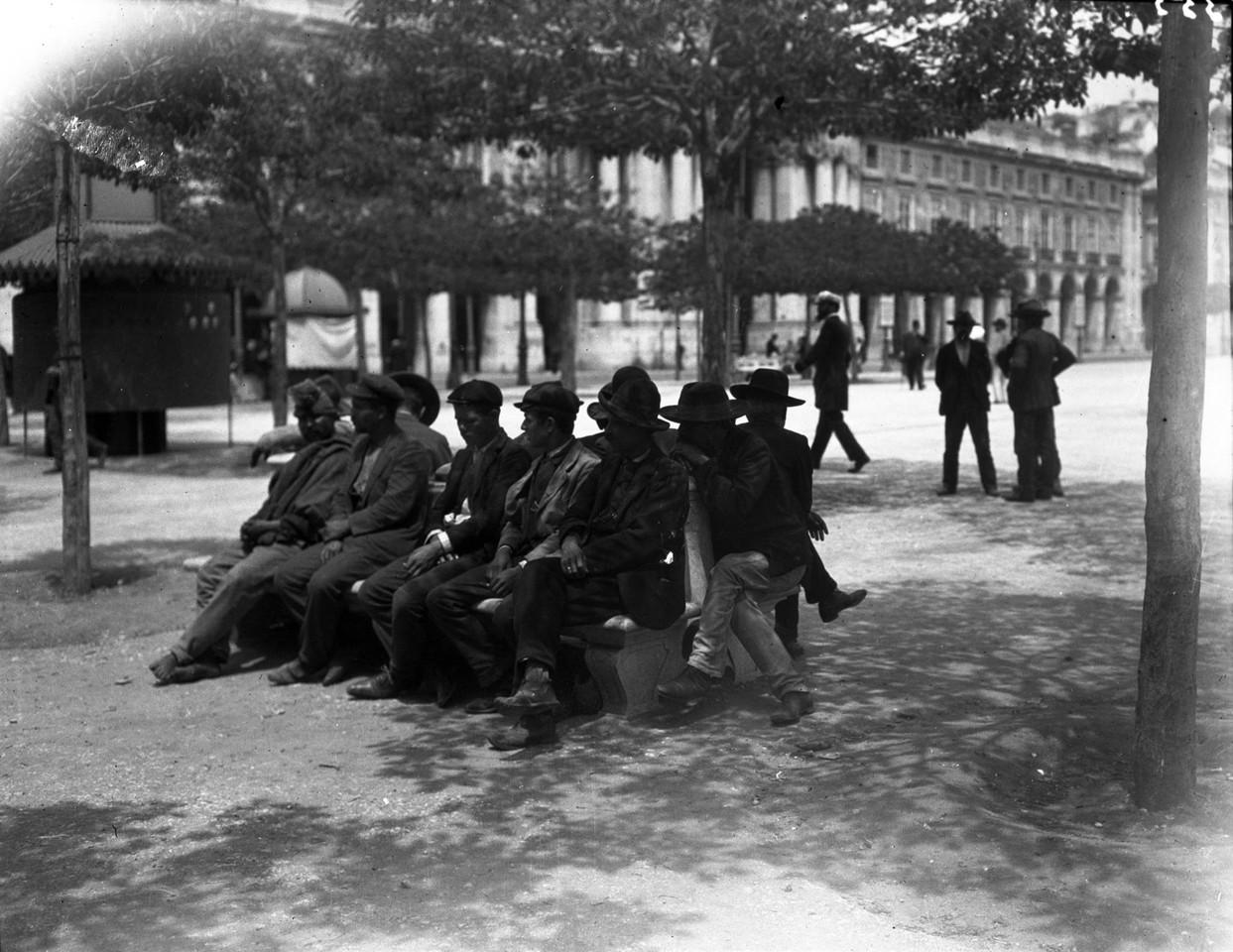 Praça do Comércio, 1907, foto de Joshua Benoliel