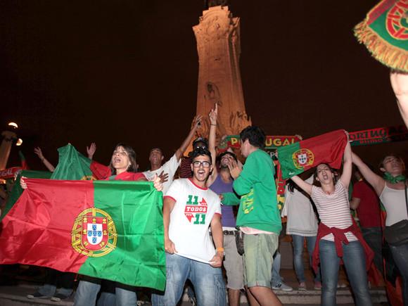 Portugueses em festa no Marquês