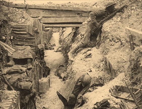 Trincheira em Franca na Grande Guerra A