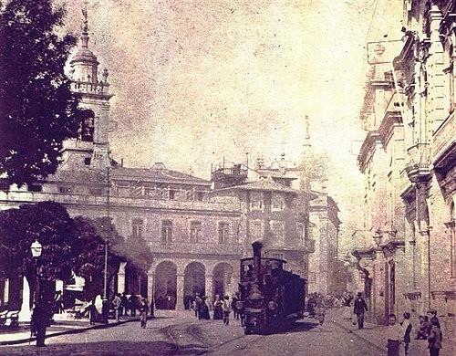 Braga - Arcada com o comboio