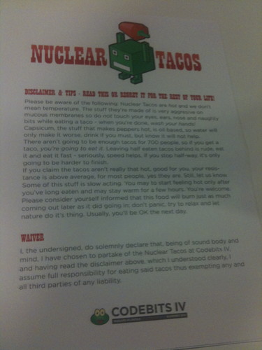 Waiver for the Nuclear Tacos