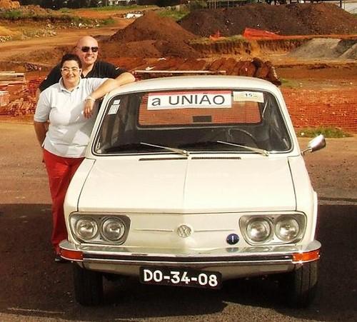Não era amarela, mas a Brasilia portou-se à altura...