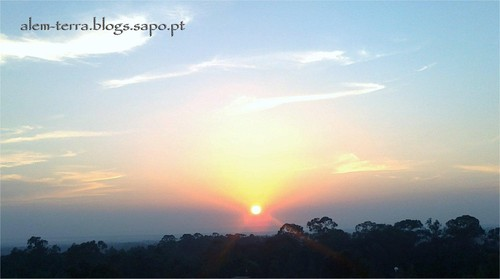 Por-do-sol ... sobre Ovar e a ria de Aveiro