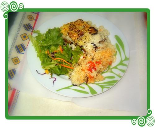 arroz com beringelas no forno