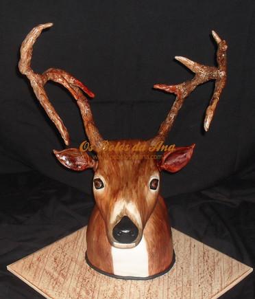 Bolo temático 3D Cabeça de Veado 3D Deer Cake