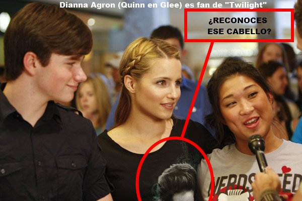 Dianna Agron é Team Edward