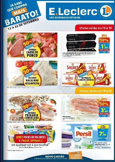 Novo Folheto E-LECLERC S. Domingos Rana promoções de 12 a 22 setembro