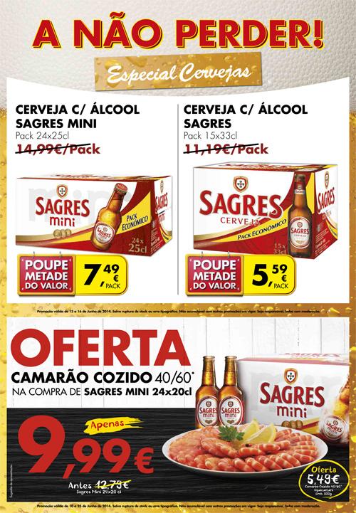 Novo Folheto Especial PINGO DOCE Cervejas de 13 a 16 junho
