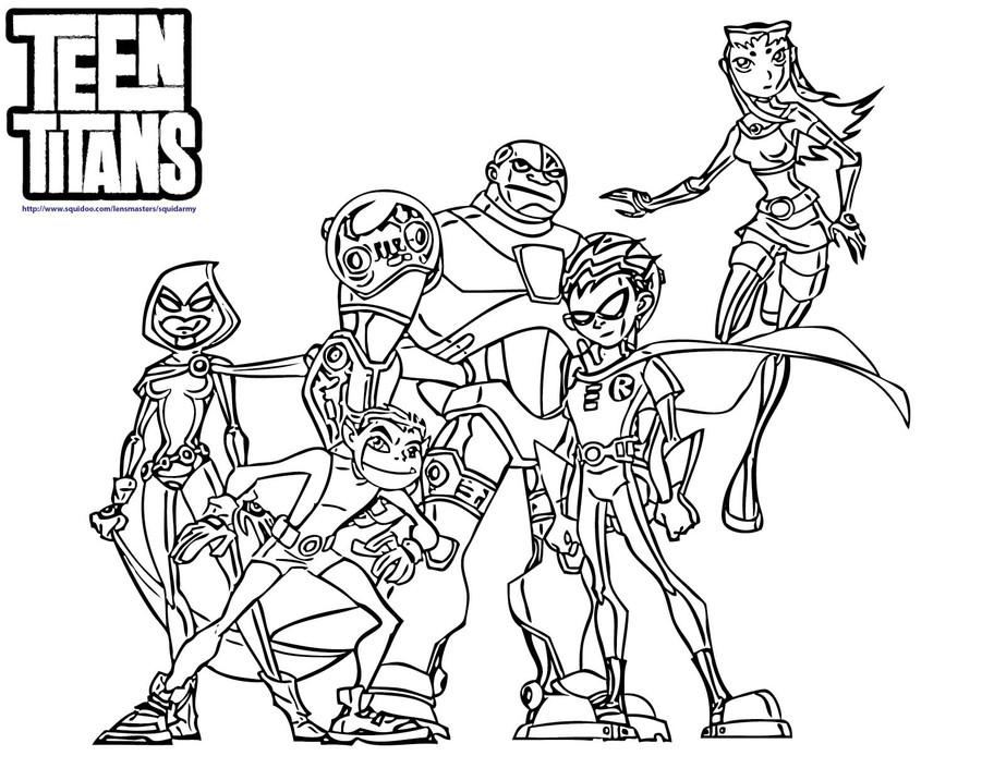 Desenhos dos Jovens Titans para